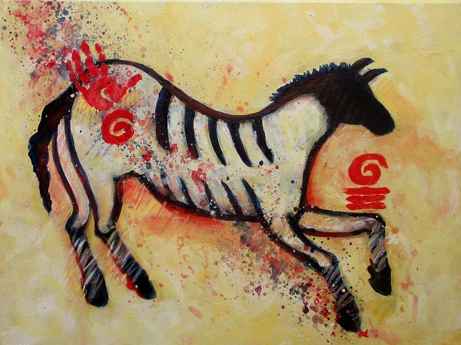 Primitive Little Horse Painting