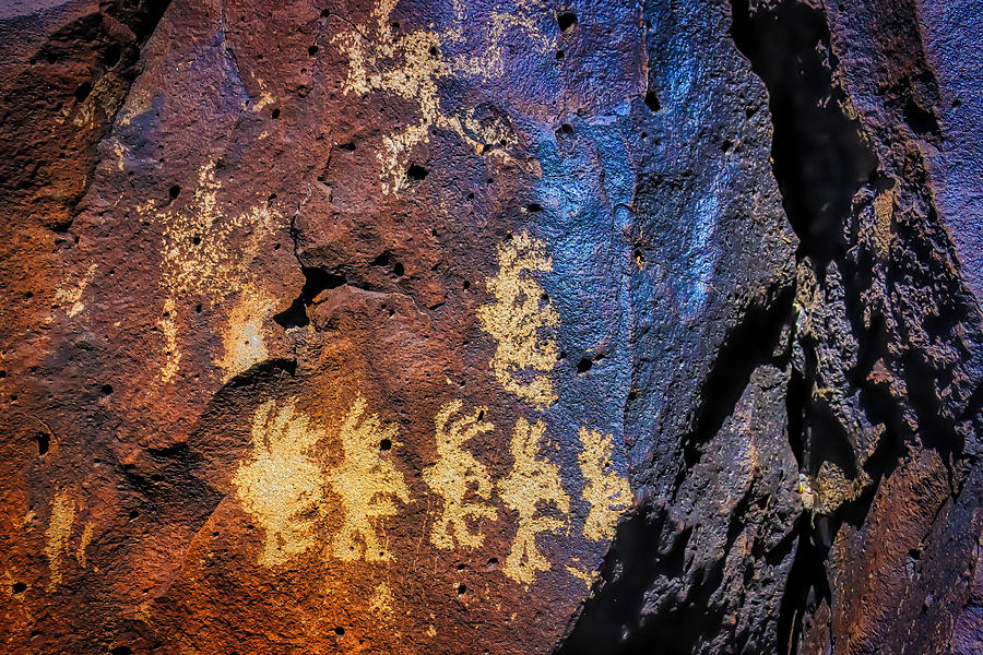 Pictograph Photograph - Primitive Rock Drawings by Garry Gay