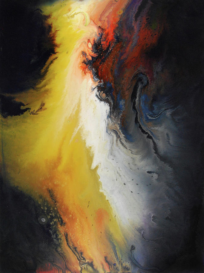 Abstract Painting - Primordial by Dion Kurczek