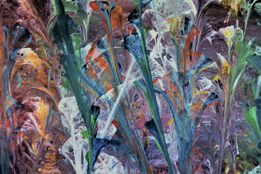 Bold Colors Painting - Primordial Garden, India by Diana Robbins