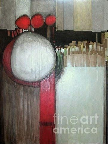 Abstract Painting - Primordial by Marlene Burns