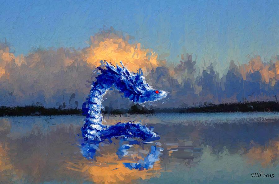 Native American Mythology Digital Art - Primordial Serpent by T D Hill