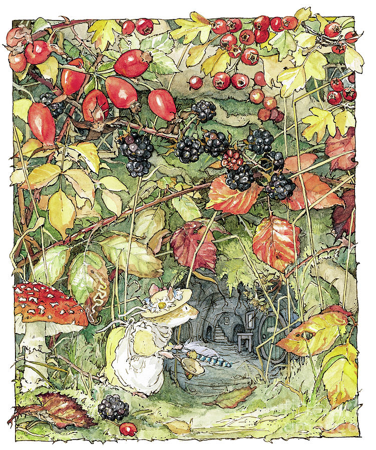 Brambly Hedge Drawing - Primrose At The Entrance To The Tunnels by Brambly Hedge