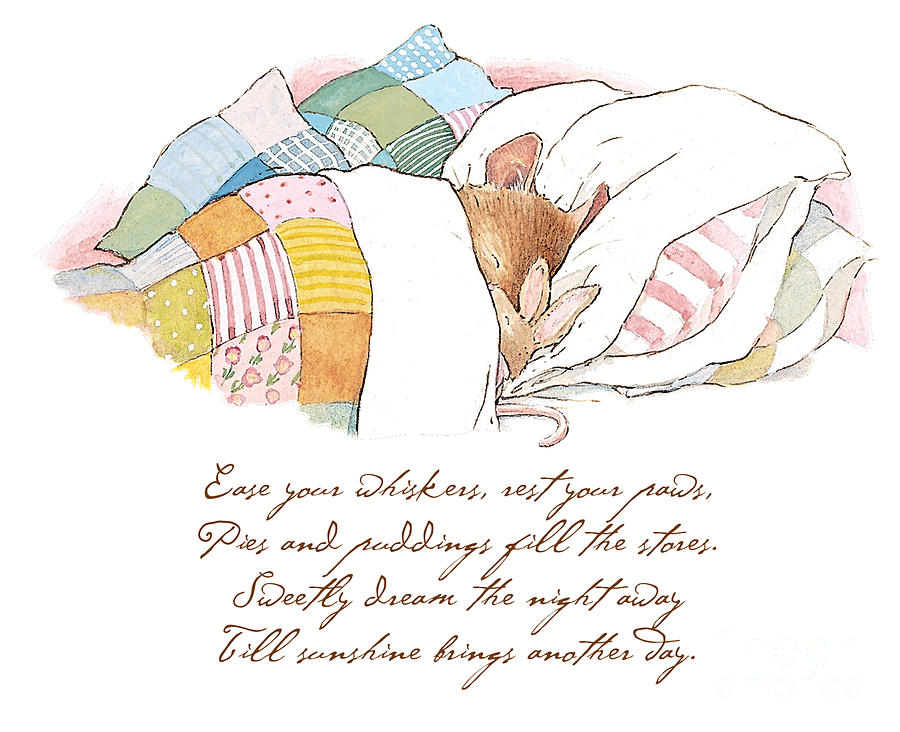 Brambly Hedge Drawing - Primrose goes to sleep by Brambly Hedge