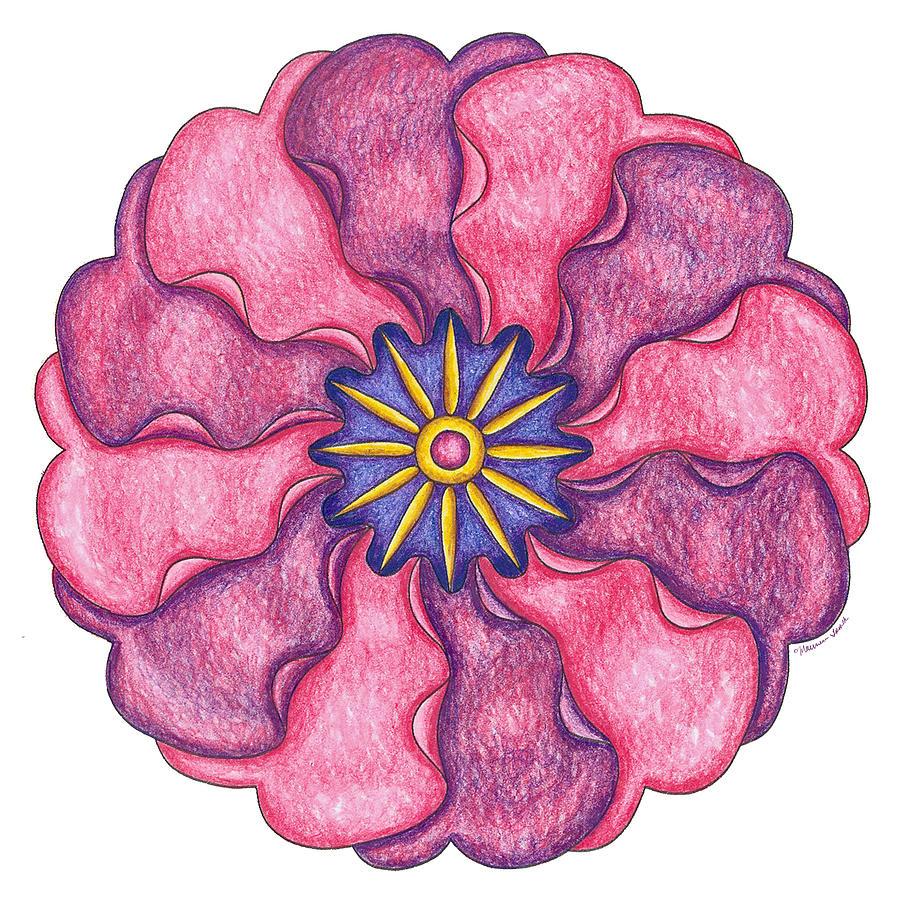 Primrose Painting - Primrose II by Maureen Frank The Mandala Lady