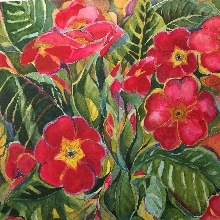 Primrose Painting - Primrose by Lynne Bolwell