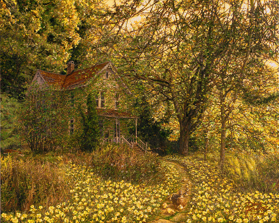 Old House Painting - Primrose Path by Doug Kreuger