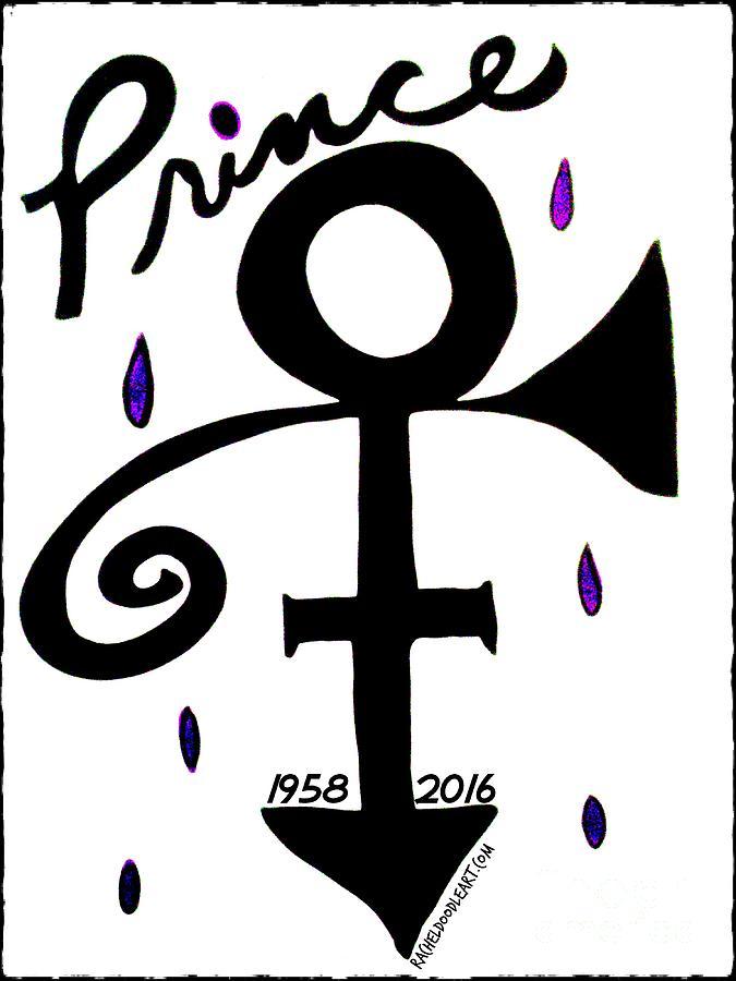 Prince Drawing - Prince 1958-2016 by Rachel Maynard