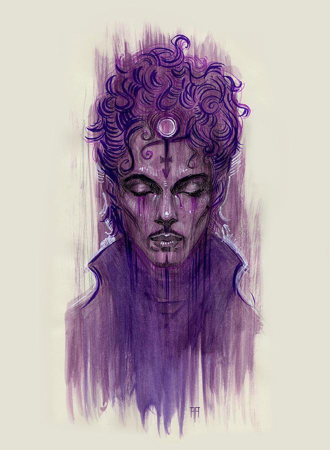 Prince Painting - Prince by Alex Ruiz