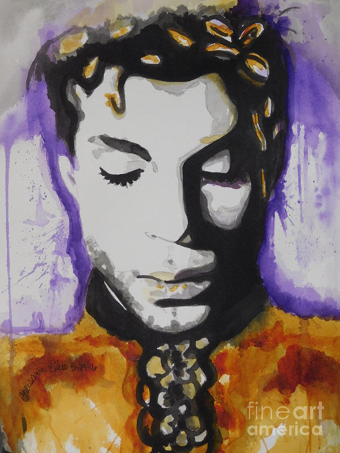 Watercolor Painting Painting - Prince by Chrisann Ellis