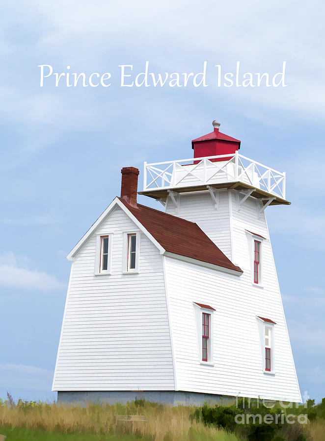Lighthouse Painting - Prince Edward Island Lighthouse Poster by Edward Fielding