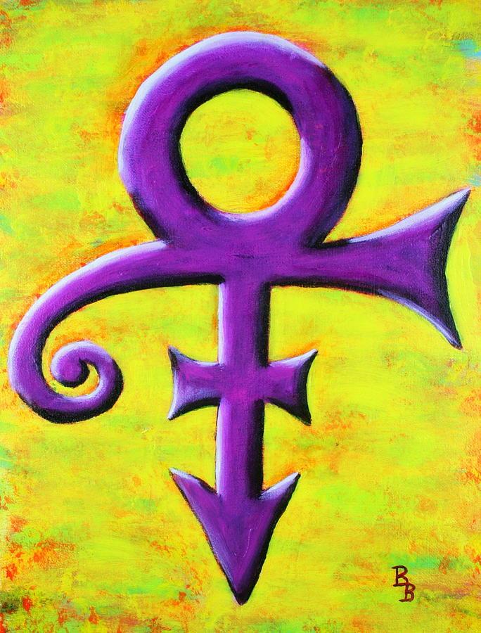 Prince Musician Purple Symbol by Bob Baker