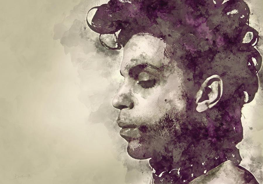 Purple Musician Portrait Painting