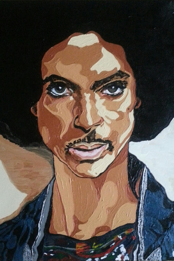 Prince Painting - Prince Rogers Nelson by Rachel Natalie Rawlins