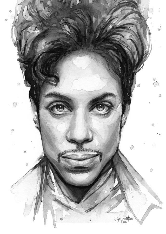 Watercolor painting prince watercolor portrait by olga shvartsur