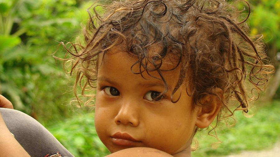 Child Photograph - Princely Curls And A Glare by Abir Bordoloi