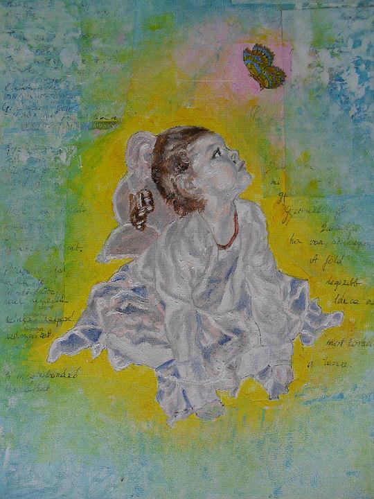Portrait Painting - Princess by Agnes V