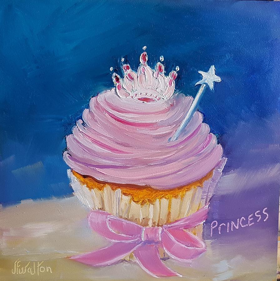Princess Painting - Princess Cupcake by Judy Fischer Walton