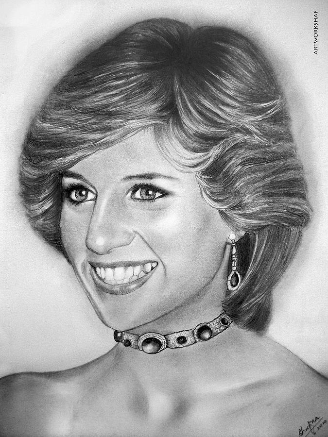 how to draw princess diana easy