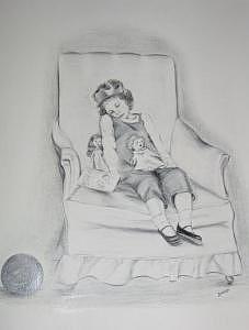 Black And White Drawing - Princess Dreams by Marijeanne Davila