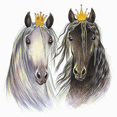 Horse Painting - Princess Fillies by Shari Erickson