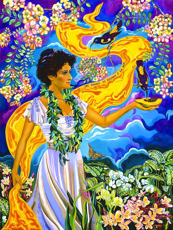 Hawaii Painting - Princess Kaiulani by Mary Ann Gough