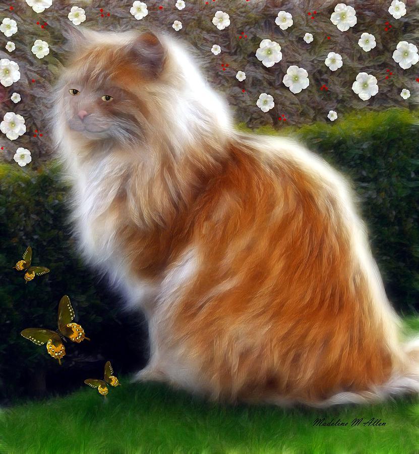 Cat Digital Art - Princess Sheba  by Madeline  Allen - SmudgeArt