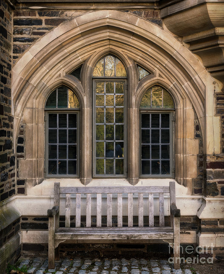 Architecture Photograph   Princeton University Bench By Jerry Fornarotto