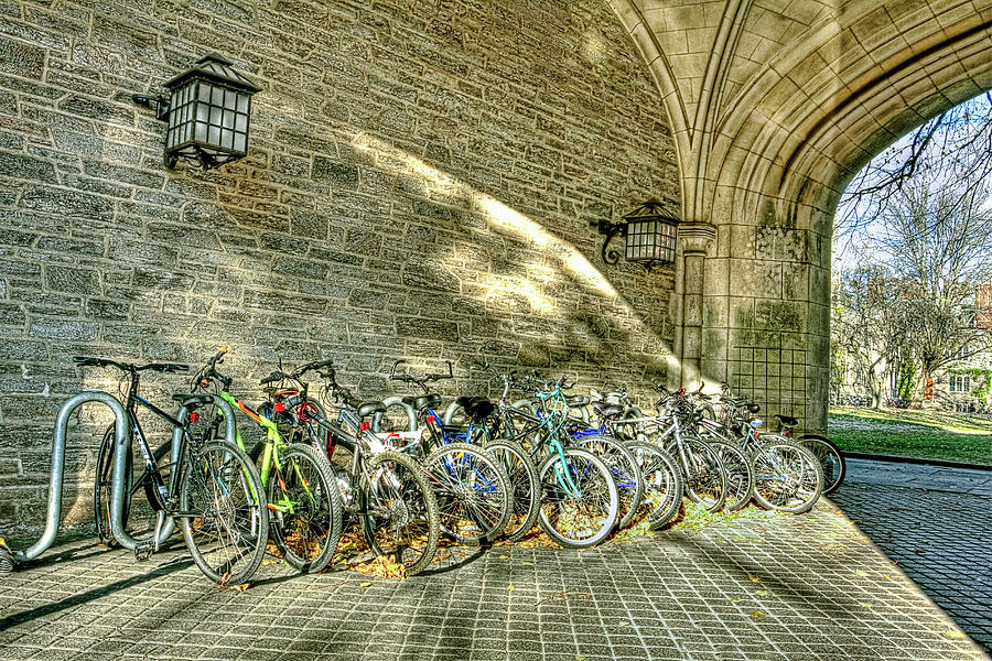 Princeton University Bike Rack Photograph