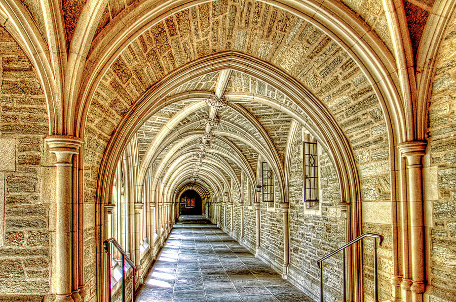 Princeton University Courtyard Arches Photograph