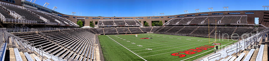 Princeton Photograph - Princeton University Stadium Powers Field Panoramic by Olivier Le Queinec