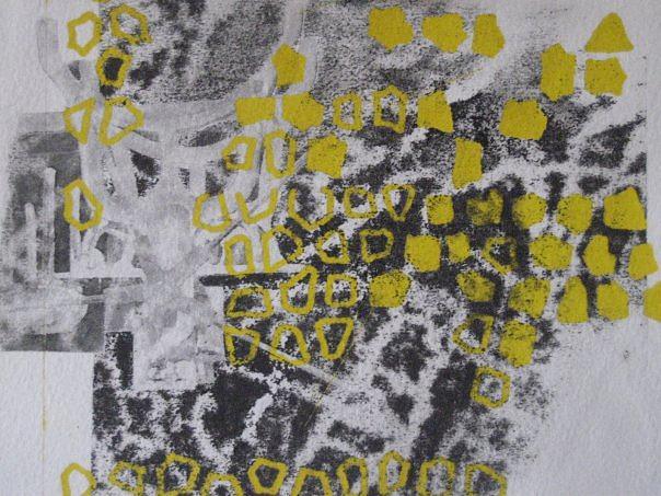 Dots Mixed Media - Print 1 by Olivia  Whitby