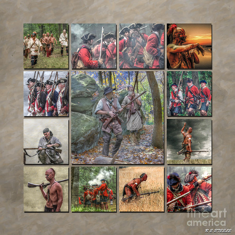 Uniform Photograph - Print Collection French And Indian War by Randy Steele