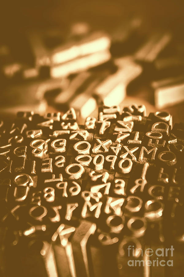 Print Photograph - Print Industry Typographic Letters And Numbers by Jorgo Photography - Wall Art Gallery