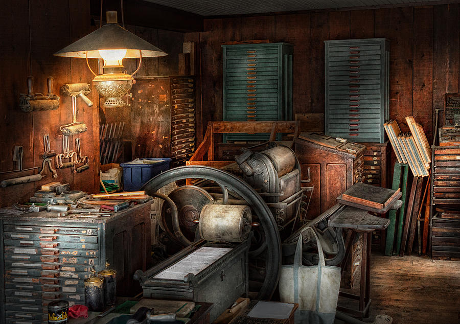 Hdr Photograph - Printing - Stop The Presses  by Mike Savad