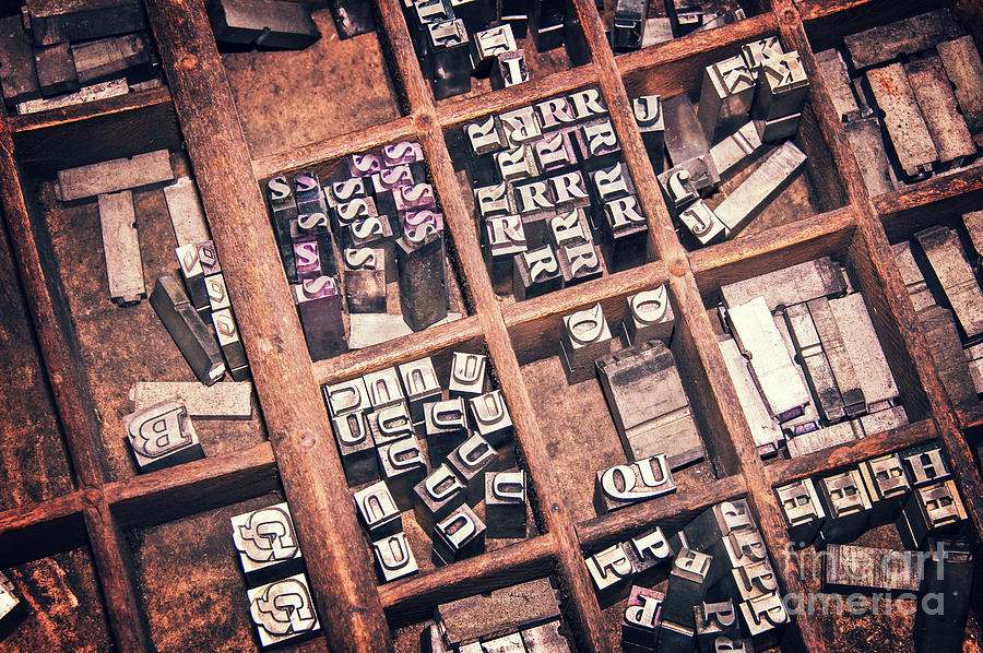 Printers Photograph - Printing Blocks by Delphimages Photo Creations