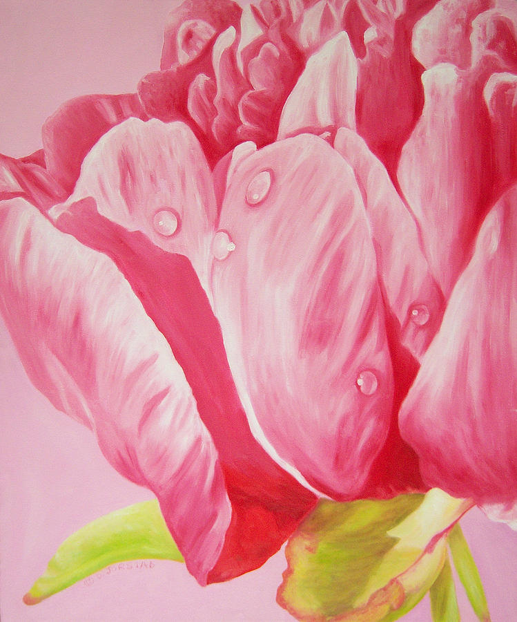 Prints art for sale floral oil painting pink painting by for Large prints for sale
