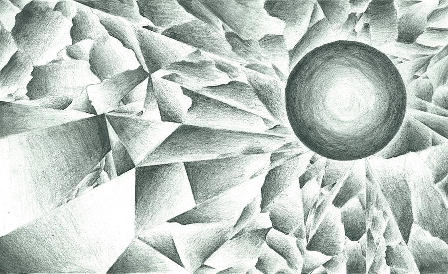 Pencil Drawing Drawing - Prismatic Eclipse by Ty DAvila