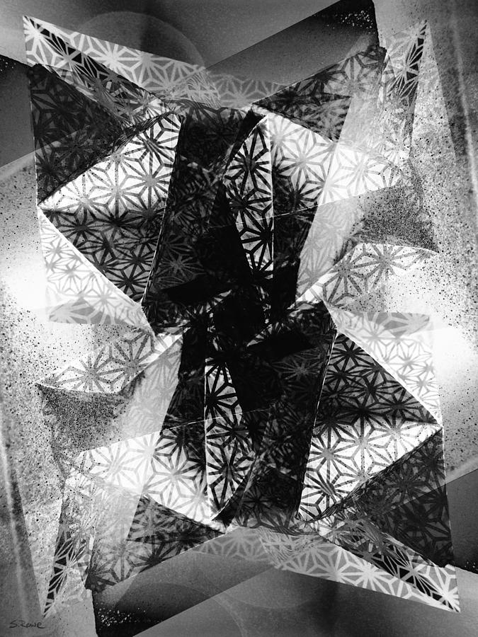 Paper Photograph - Prismatic Vision - Black And White by Shawna Rowe
