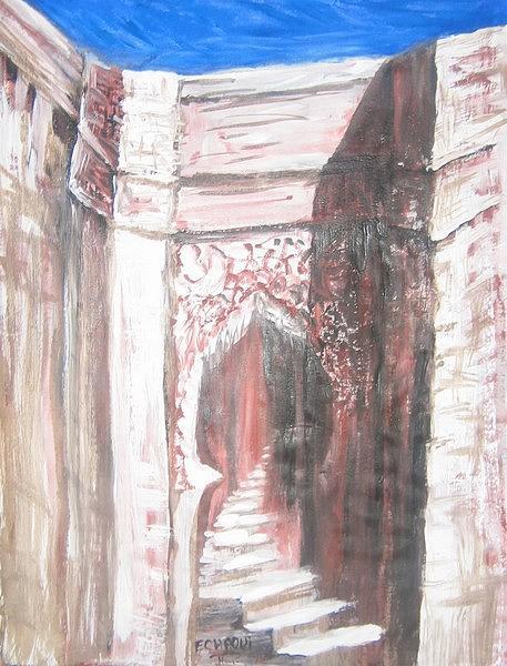 Prisme Antique 01  2009  Painting by Halima Echaoui