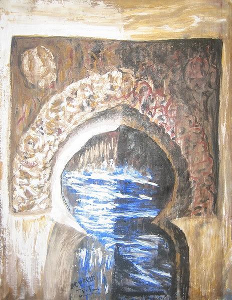 Prisme Antique 05 2009 Painting by Halima Echaoui