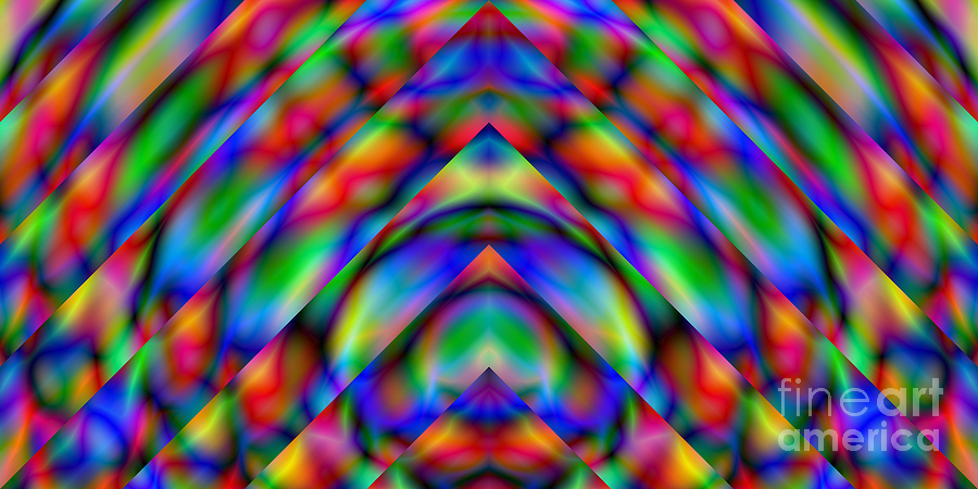 Abstract Digital Art - Prisms 339 Abstract by Rolf Bertram