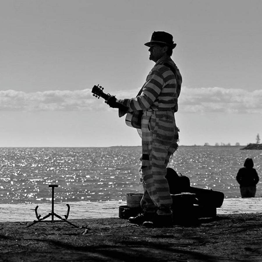 Toronto Photograph - Prison Break Blues.  busking On The by Brian Carson