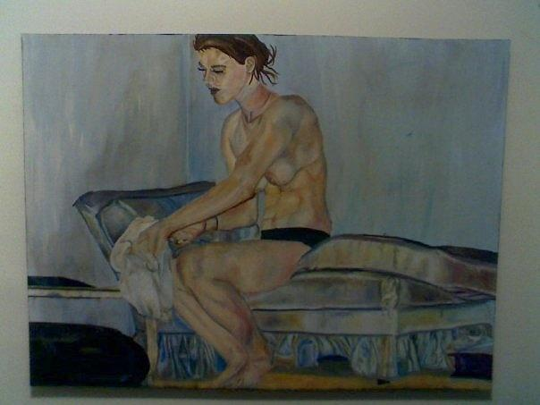 Lady Painting - Privacy by Olivia  Whitby
