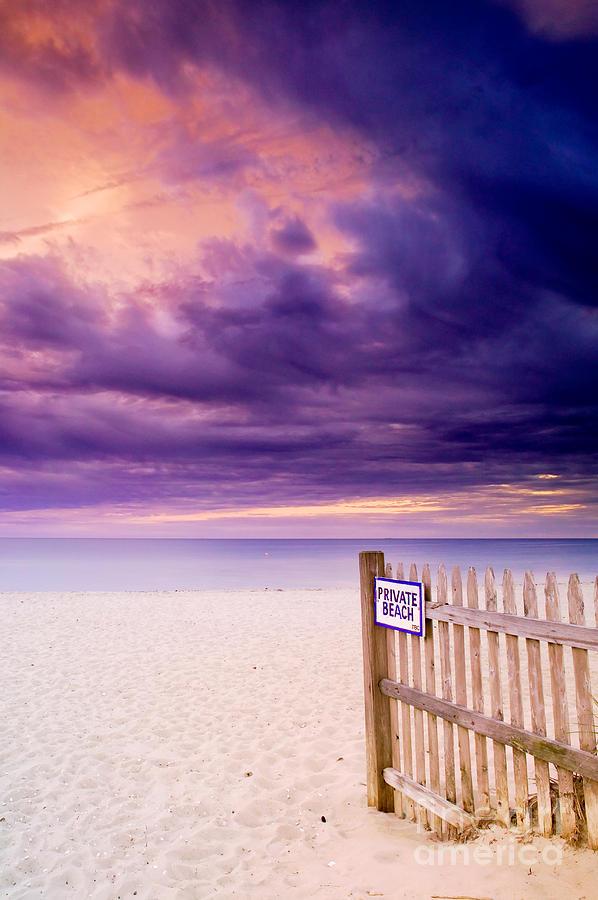 Centerville Photograph - Private Beach Cape Cod by Matt Suess