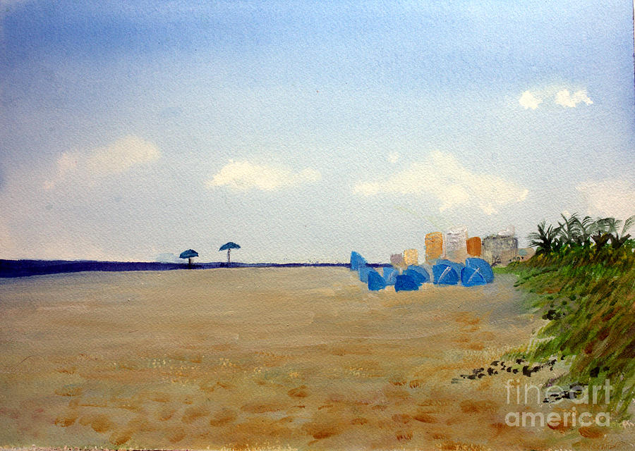 Artist Painting - Private Beach by Donna Walsh