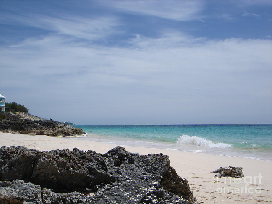Bermuda Photograph - Private Bermuda Beach by PJ  Cloud