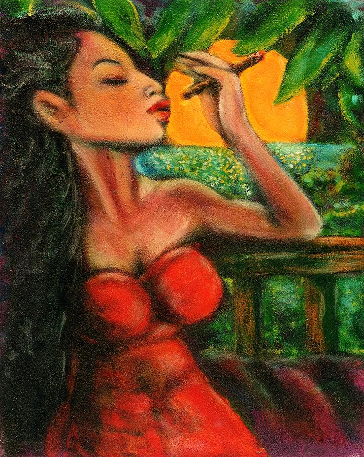 Cigars Painting - Private Celebration by Dennis Tawes