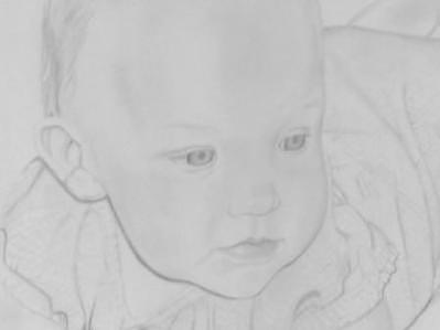 Baby Drawing - Private Collection Close Up by Suzan Tisdale