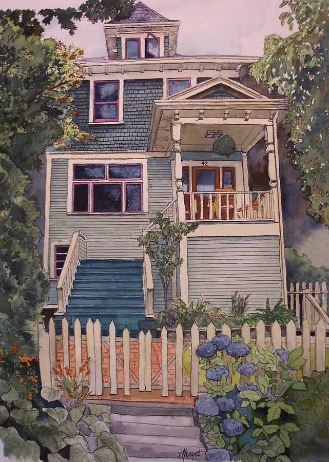 House Painting - Private Commission by Victoria Heryet